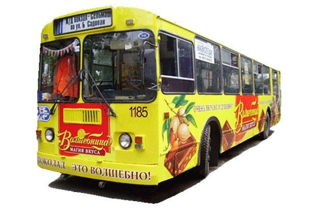 Реклама на транспорте в Челябинске